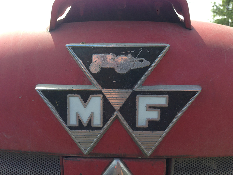 This Massey Ferguson logo has some intricacies. Currently the brand uses a simplified version of this thre-triangle mark.