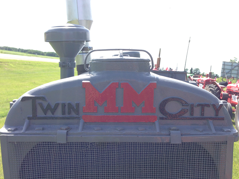 Beautiful chunky MM marking the Minneapolis-Moline tractor brand.