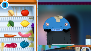 Toca Boca's Monsters Kitchen. Notice the eyes?