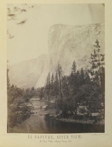 1864 photo of El Capitan by Charles Leander Weed